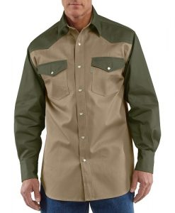 Carhartt Men's Snap-Front Twill Work Shirt