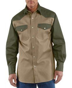 Carhartt Men's Snap-Front Twill Work Shirt
