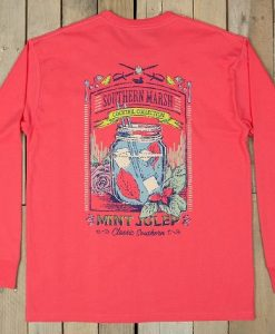 Southern Marsh Cocktail Collection Tee - Mint Julep - Long Sleeve