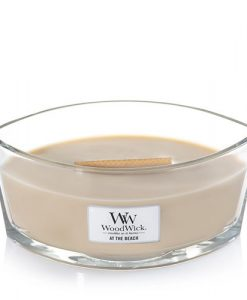 WOODWICK CANDLES SANDED ELLIPSE AT THE BEACH SAFFORD TRADING COMPANY