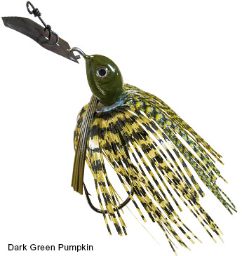 ZMAN WEEDLESS CHATTERBAIT PROJECT Z DARK GREEN PUMPKIN