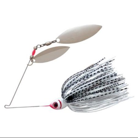 BOOYAH TANDEM BLADE SPINNERBAIT SILVER SHAD