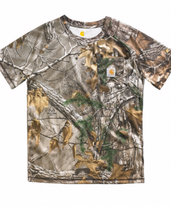 Carhartt Boys' Youth Force Performance Camo Pocket Tee
