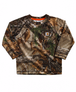 Carhartt Boys' Force Performance Camo Raglan Pocket Tee