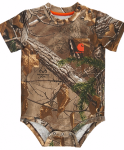 Carhartt Boys' Infant Camo Pocket Bodyshirt
