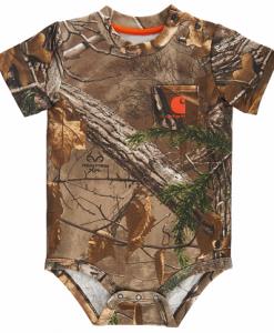 Carhartt Boys' Infant Camo Pocket Bodyshirt
