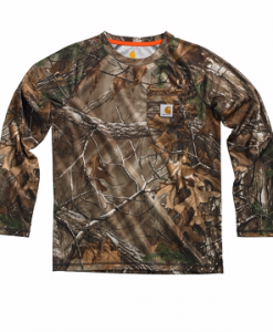 Carhartt Boys' Youth Force Performance Camo Raglan Pocket Tee