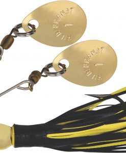 HILDEBRANDT NUGGET SPINNER BAIT GOLD BLADE BLACK YELLOW SKIRT