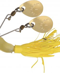 HILDEBRANDT NUGGET SPINNER BAIT GOLD BLADE YELLOW SKIRT