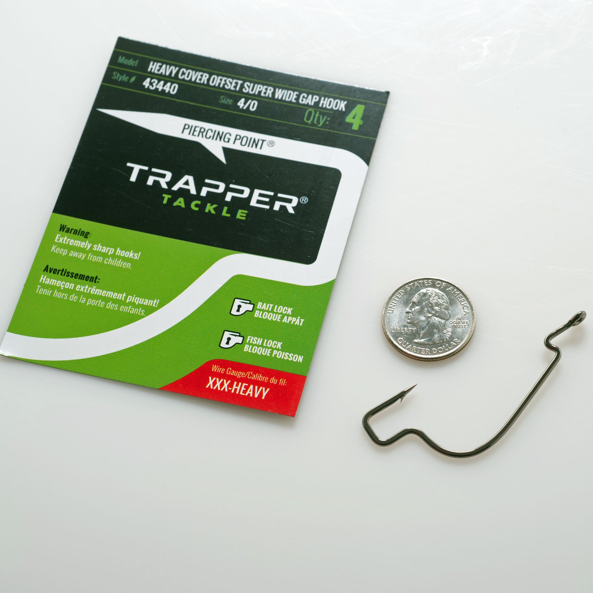 TRAPPER HEAVY COVER OFFSET SUPER WIDE GAP HOOK 4