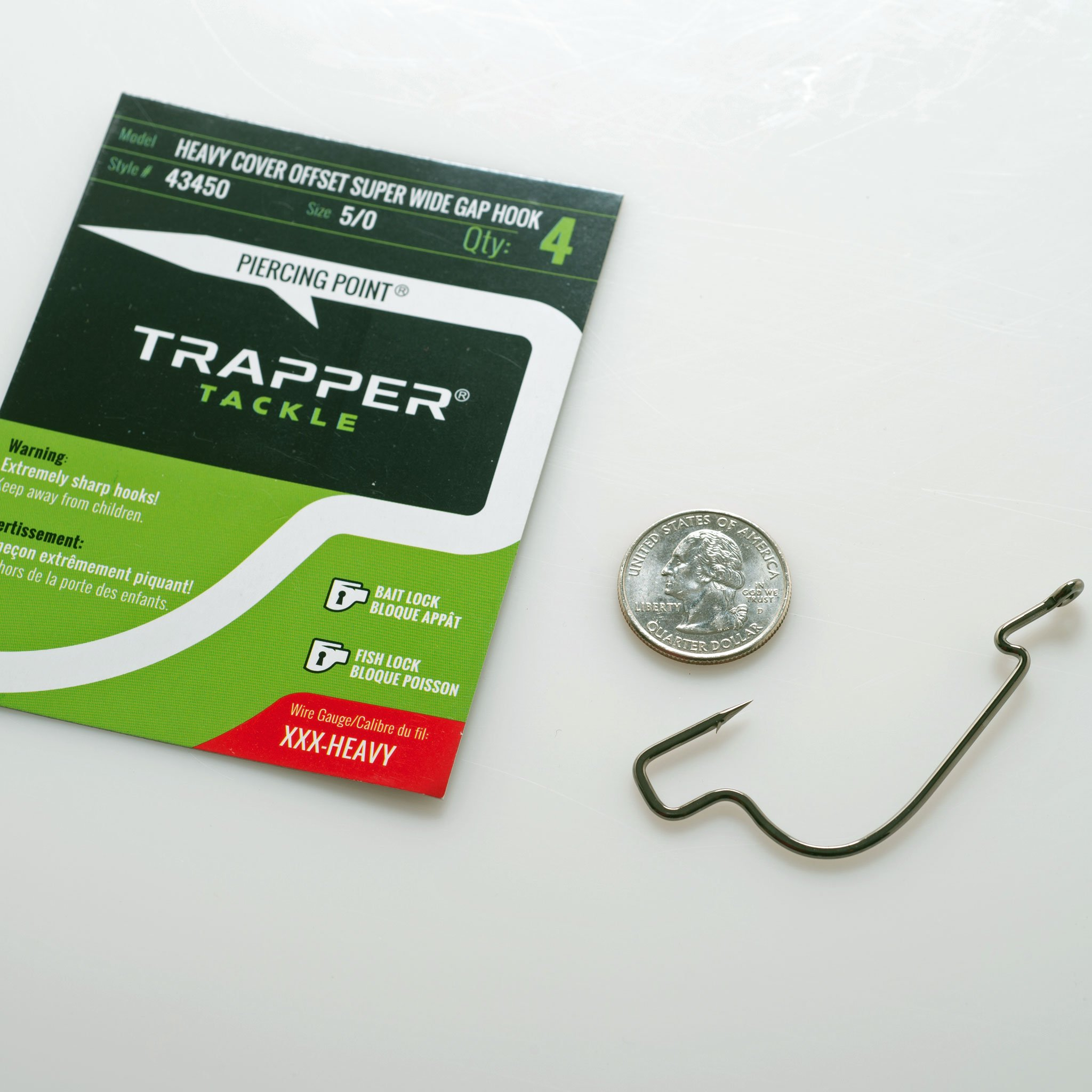 TRAPPER HEAVY COVER OFFSET SUPER WIDE GAP HOOK 5