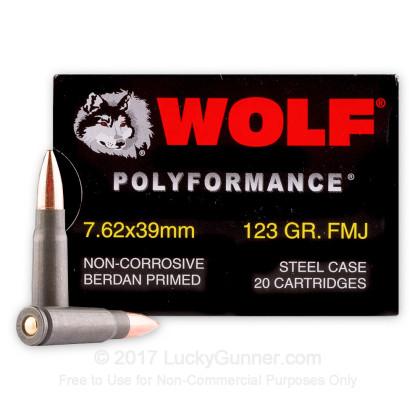 WOLF POLYFORMANCE 7.62X39 AMMUNITION FMJ