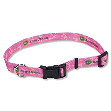 JOHN DEERE PINK DOG COLLAR