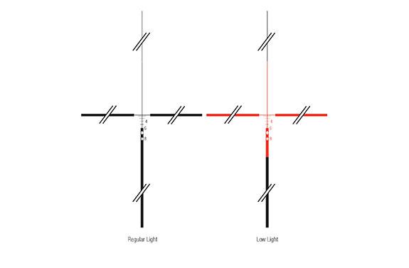 TRIJICON ACOG 4X32 WITH RED ILLUMINATION LINES