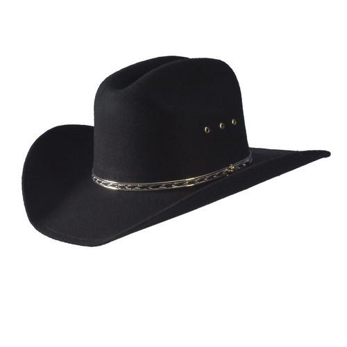 Turner Hats Black Felt Covered Hat