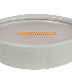 Woodwick Ellipse Concrete Collection Premium HearthWick Candle - Wood Smoke