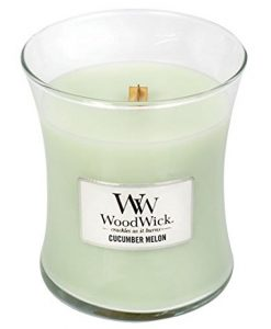Woodwick Medium Jar Candle - Cucumber Melon