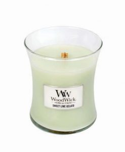 Woodwick Medium Jar Candle - Sweet Lime Gelato