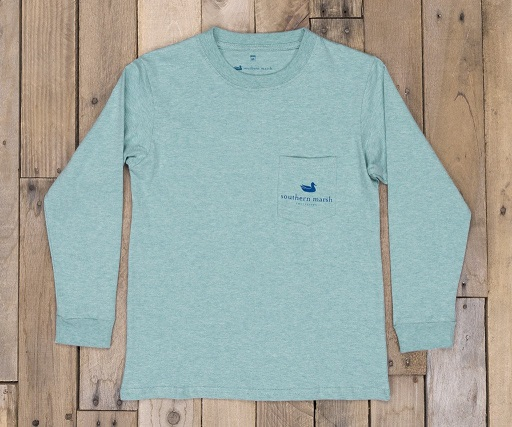 Southern Marsh Youth Branding Collection Tee - Flying Duck - Long Sleeve