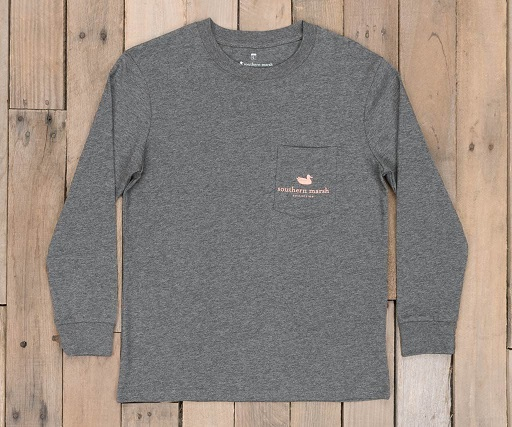 Southern Marsh Youth Vintage Decoy Wood Duck Tee - Long Sleeve