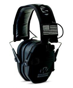 Walker's Game Ear Razor Patriot Series Electronic Adult Folding Earmuffs American Flag Black