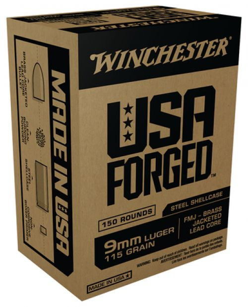 Winchester USA Forged Ammunition 9mm Luger 115 Gr FMJ