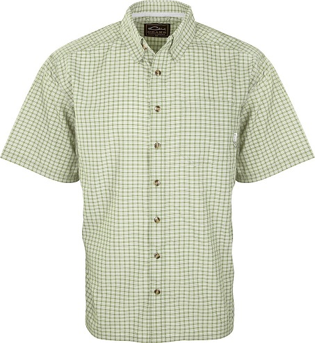 Drake Men's Featherlite Check Shirt Short Sleeve