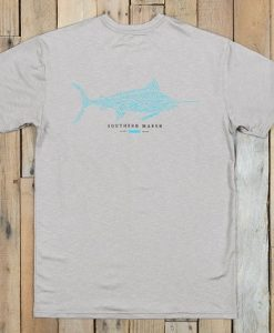 Southern Marsh FieldTec Heather Performance Tee - Marlin