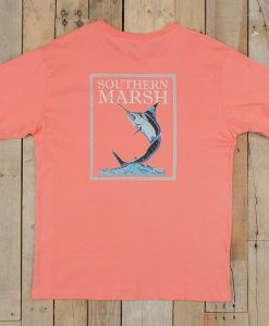 Southern Marsh Blue Marlin Fishing Tee