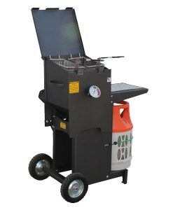 Cajun Fryer 4 Gallon 2 Basket Fryer – With Stand
