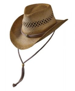 "Turner Hats Outback Hat You'll be ready for adventure in this woven raffia hat that features a 3.75"" brim with memory wire to customize the shape. Ideally suited for windy conditions or intense activity, the hat's adjustable chin-cord wraps around the crown and through eyelets to keep it secure."