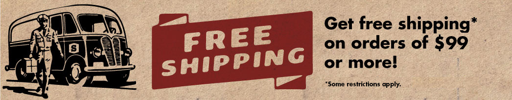 Free Shipping on orders of $99 or more