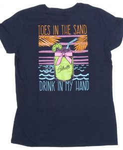 Calcutta Ladies Toes In The Sand T-Shirt