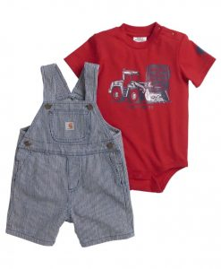 Carhartt Boys' Ticking Stripe Shortall Set