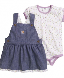 Carhartt Girls' Chambray Jumper Set