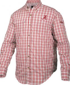 Drake Men's Alabama Gingham Plaid Wingshooter's L/S Shirt
