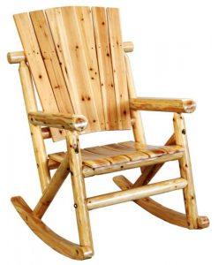Rocker Chair Single Aspen Log