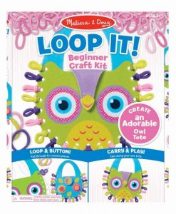 Melissa & Doug Loop It! Owl Tote Beginner Craft Kit