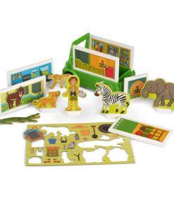 Melissa & Doug Magnetivity Magnetic Building Play Set - Safari Rescue Truck