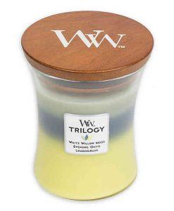 WoodWick Trilogy Woodland Shade Medium Candle