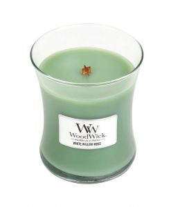 WoodWick White Willow Moss Medium Candle