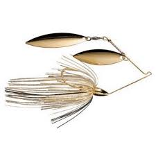 War Eagle Gold Frame Double Willow Spinnerbait 3/8 oz Spot Remover