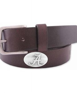 Zep-Pro Men's Leather Concho Belt - Alabama