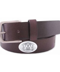 Zep-Pro Men's Leather Concho Belt - Auburn