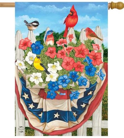 Briarwood Lane American Birds House Flag #HFBL-H01290