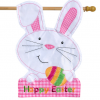 Briarwood Lane Easter Bunny Applique House Flag #H00847