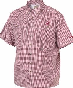 Drake Men's Alabama Plaid Wingshooter's Shirt S/S #SD-ALA-2670