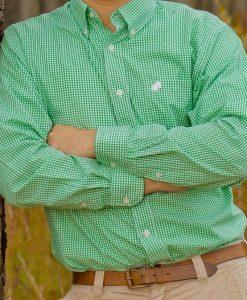 American Strutter Men's Gingham Button Down Shirt
