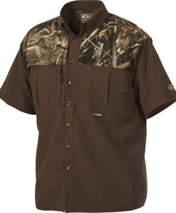 Drake Youth Two-Tone Camo Wingshooter's S/S Shirt #DY2600