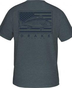 Drake Men's DPF Patriotic Fish Tee S/S #DPF3060